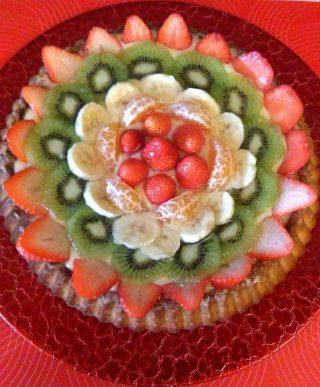 torta alla frutta con crema la limoncello