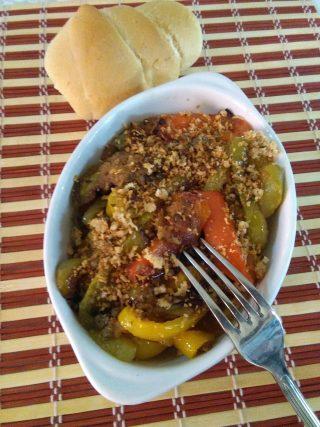 Peperoni gratinati cotti in padella