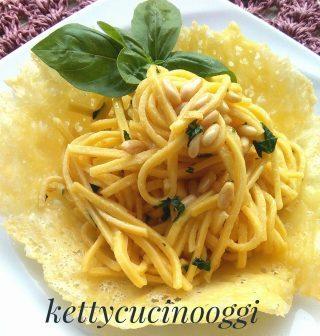 Spaghetti alla chitarra aglio olio e basilico