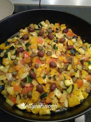 Filetti di cernia con verdure fresche