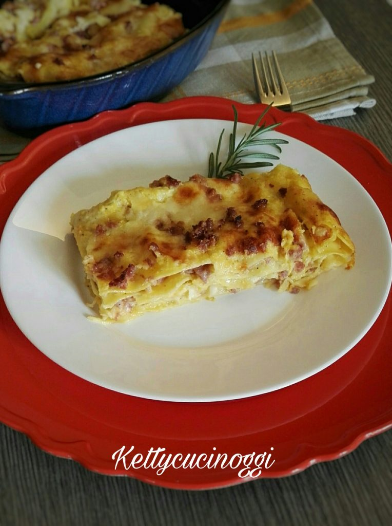 Lasagne zucca salsiccia e provola