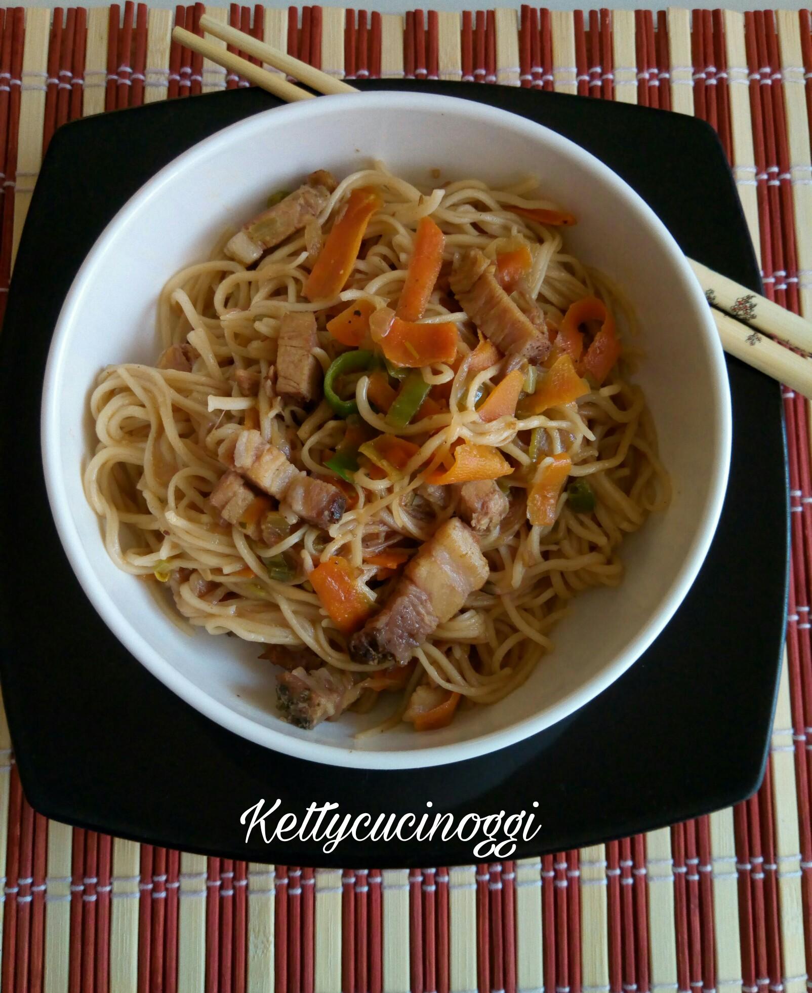 Ricetta Noodles Con Verdure E Carne.Noodles Con Verdure E Carne Ketty Cucino Oggi