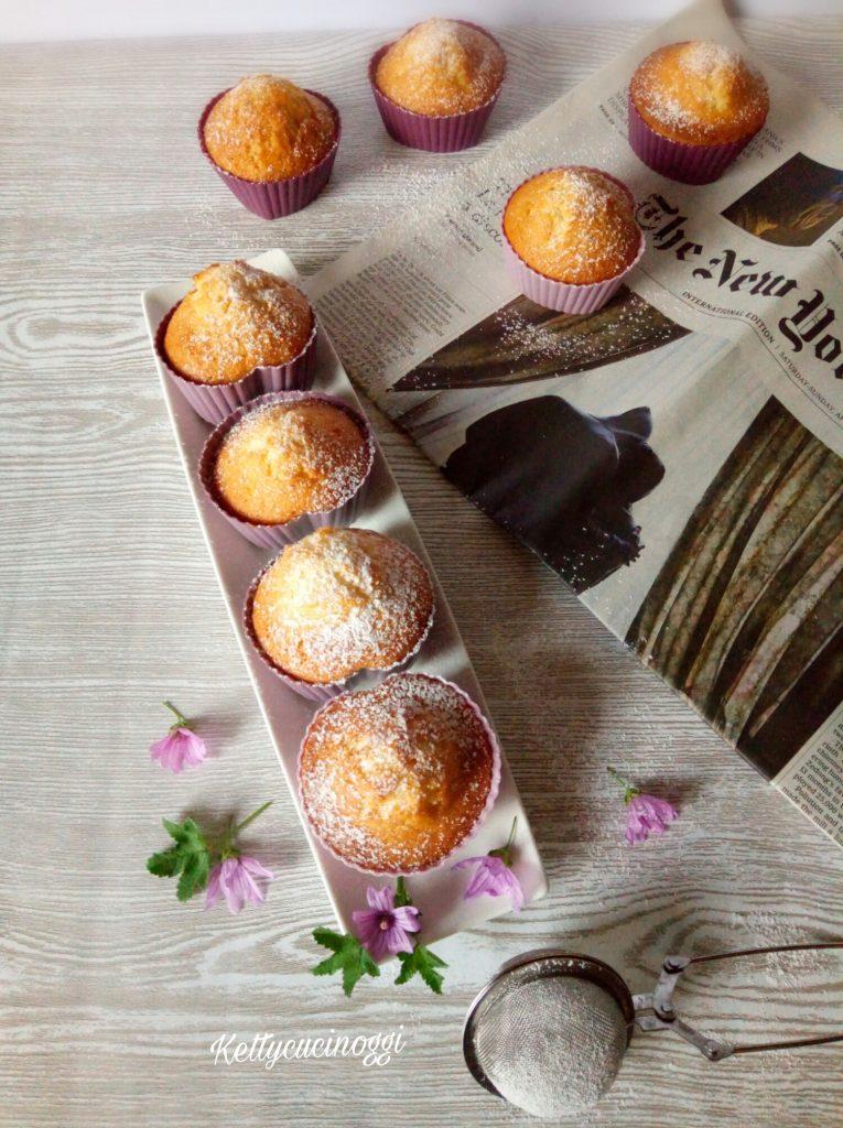 Muffin cocco e cioccolato fondente.