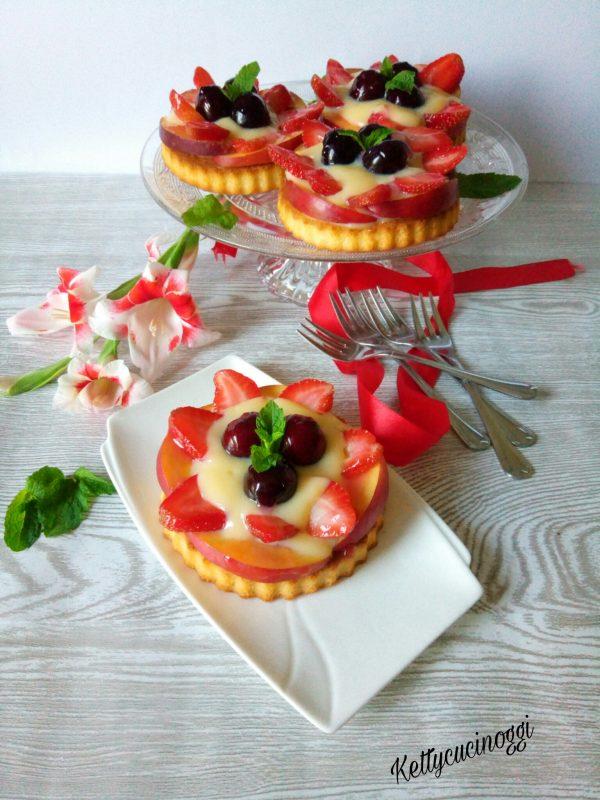 Ecco qui come si presenteranno le nostre <i><b>Tartellette alla frutta </b></i> una volta pronti.