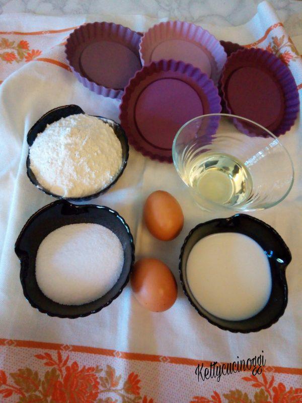 Prepariamo gli ingredienti necessari per fare le <b>Tartellette</b> e accendiamo il forno a 180°