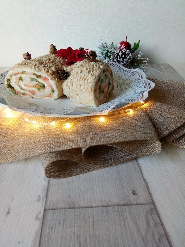 Ecco qui come sarà il vostro <b>Tronchetto</b> natalizio al momento che lo porterete a tavola.