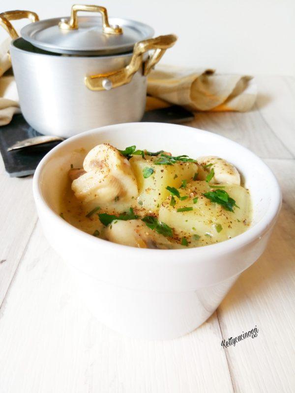 Ecco qui il nostro piatto ben caldo pronto da servire a tavola, se volete potete accompagnarlo  da crostini di pane .