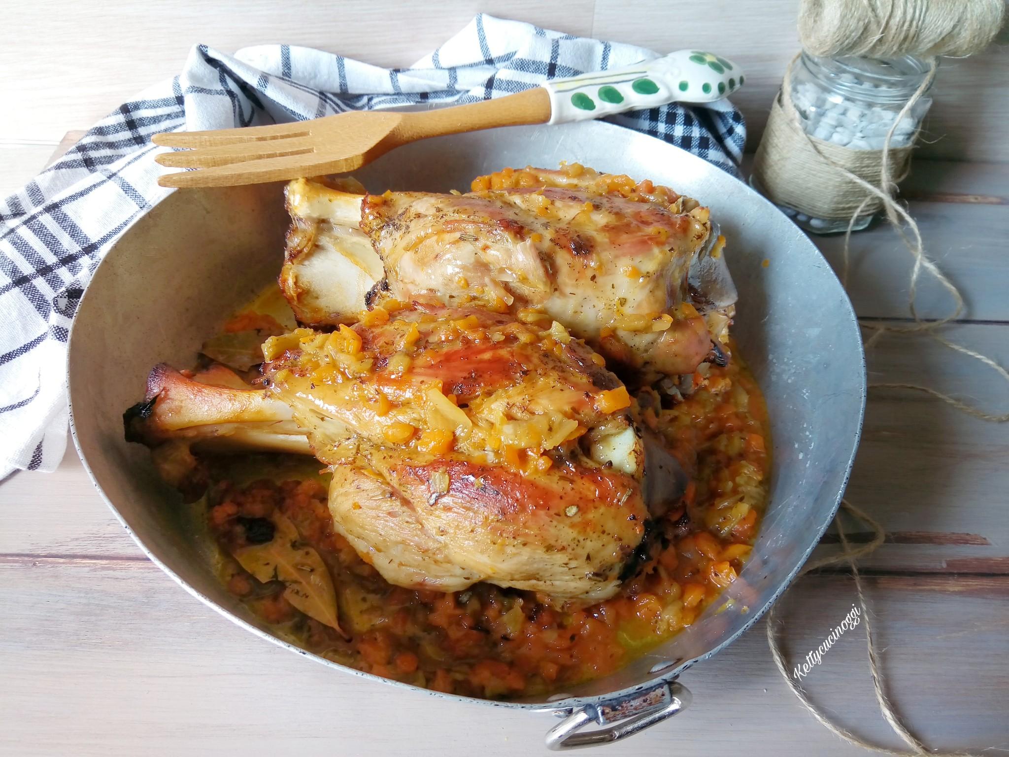 Stinco di maiale al forno alla birra ketty cucino oggi - Cucinare lo sgombro al forno ...