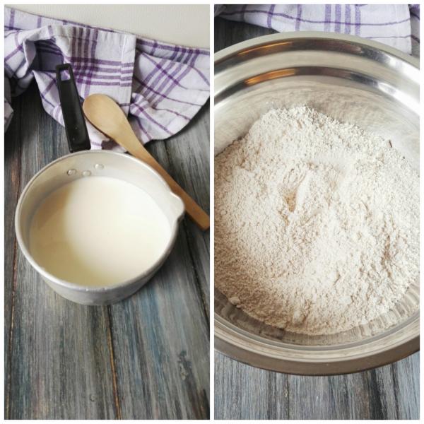 Dentro una ciotola mettiamo le farine ossigenate il sale il bicarbonato e i semi di papavero.