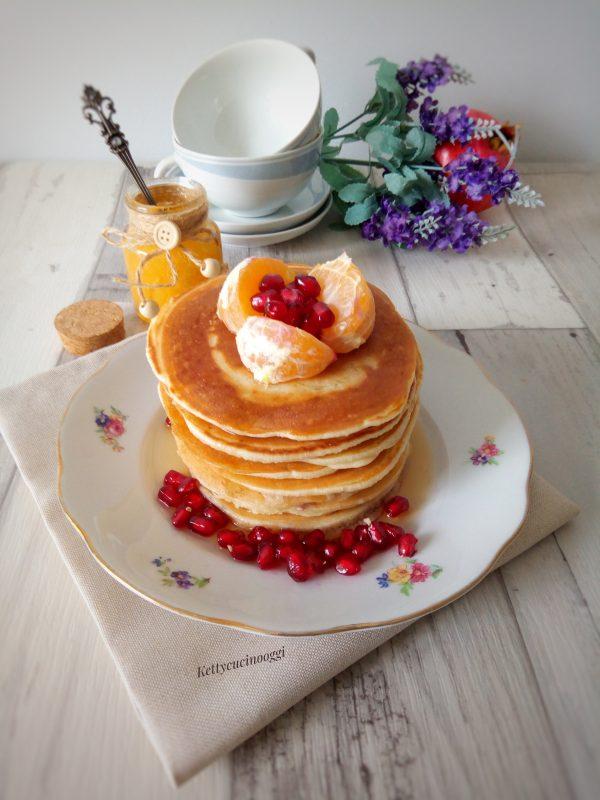 Ecco come si presentano il nostri <i><b>Pancakes al latte di cocco con la cannella</b></i>