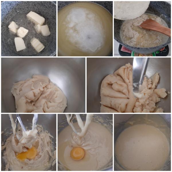 Solo quando l'uovo sarà ben assorbito possiamo aggiungerne il secondo uovo e così via sino al termine delle uova.