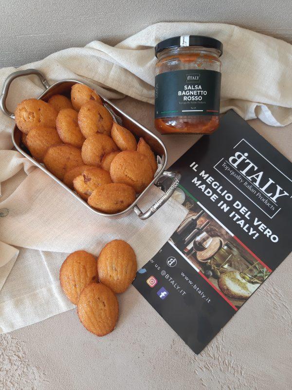 le nostre madeleine sono pronte per essere consumate con l'aperitivo.